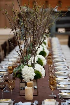 Wedding table arrang
