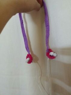 My crochet version of earphone holder for when I go running. ..