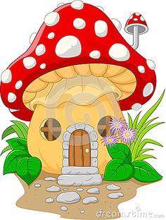 Casa do cogumelo dos desenhos animados                                                                                                                                                                                 Mais