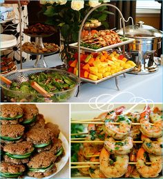 New Bridal Shower Lunch Buffet Brunch Food 31 Ideas Party Food Buffet, Brunch Buffet, Food Menu, Breakfast Buffet, Bridal Shower Menu, Chic Bridal Showers, Bridal Shower Brunch Menu, Brunch Recipes, Appetizer Recipes