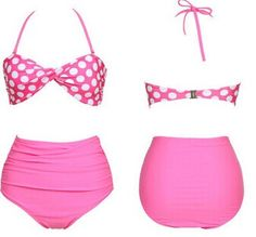 High Waisted Vintage Halterneck Ruffled Polka Dot Print Swimsuit For Women Color: PINK, BLACK, BLUE Size: S, M, L, XL Category: Women > Swimwear   Gender: For Women  Material: Polyester  Pattern Type: Polka Dot  Swimwear Type: Bikini  Waist: High Waisted  #highwaistedswimsuitshops #womenswimsuit #polkadotswimsuit #swimsuit #bridgat.com