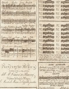 Vintage Music Score from Lux Paperie