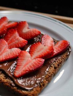 Nutella and Strawberry Toast