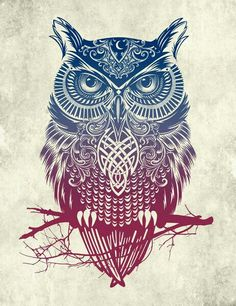 Geometric owl.