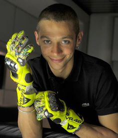 Valentino Rossi.   Now, wouldn't these gloves make for a just swell and dandy present from a loved one?