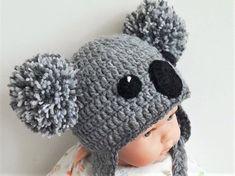 Koala Hat Crochet hat Kids Outfit Baby Hat Women Hat Cute  4c98d7da771