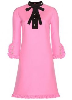 The Daily Frock: Gucci Pink Ruffle Dress | The Terrier and Lobster