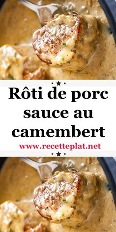 "Once again I offer you a recipe with cheese which is taken from a file from the old magazine ""Fromage gourmand"" which I continue to regret…. The Effective Pictures We Offer You About cheap Appetizers Healthy Crockpot Recipes, Healthy Breakfast Recipes, Pork Recipes, Chicken Recipes, Best Dinner Recipes, Lunch Recipes, Healthy Family Dinners, Batch Cooking, Chicken"