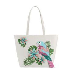 Vendula Parrot Paradise Tote Bag - Cream