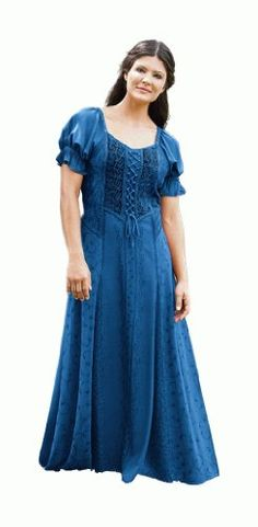 HolyClothing Haley Puff Sleeve Lace-Up Renaissance Peasant Corset Dress - http://www.styledetails.com/holyclothing-haley-puff-sleeve-lace-up-renaissance-peasant-corset-dress - http://ecx.images-amazon.com/images/I/417-Z3BvFpL.jpg