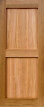 cedar shutters - v-groove style