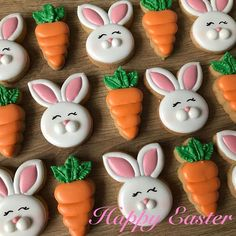 Easy Easter Cookies For Kids: The Best decorated Easter cookies recipes. Are you after bunny shaped Easter cookies ideas? If so, you have to try these simple Easter cookies with royal icing, chocolate and more. Easter Cupcakes, Easter Cookies, Valentines Day Cookies, Holiday Cookies, Royal Icing Cookies, Sugar Cookies, Iced Cookies, Easter Cookie Recipes, Easter Desserts