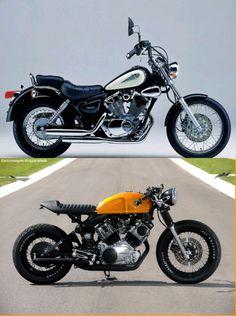 Virago Yamaha 125 cc Ca fé racer. Suzuki Cafe Racer, Virago Cafe Racer, Scrambler, Cafe Racer Build, Cafe Racer Motorcycle, Custom Cafe Racer, Moto Bike, Yamaha 125, Yamaha Virago