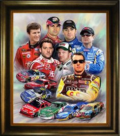 Image detail for -Home :: Nascar :: America Nascar Drivers Portrait Art Oil ...
