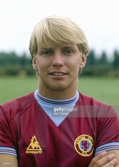 circa 1984, Gary Shaw, Aston Villa striker 1978-1988, who played 7 times for England at Under-21 level