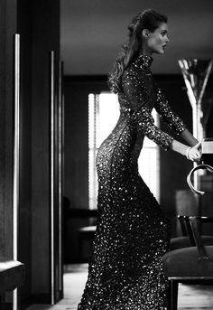 black sparkly dress Look Fashion, High Fashion, Fashion Glamour, Dress Fashion, Costume, Zuhair Murad, Zac Posen, Mode Inspiration, Beautiful Gowns