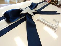 Navy & silver - very elegant for little men - www.lilysattic.com.au