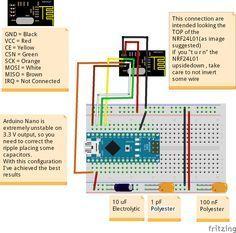 Fritzing Project – Arduino Nano NRF24L01 Receiver