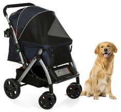 PET ROVER™ Premium Stroller for Small/Medium/Large Dogs, Cats and Pets (Navy Blue)  Regular price MSRP $268.00 SALE $186.86