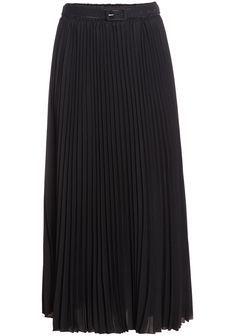 Black Pleated Long Chiffon Skirt 20.33