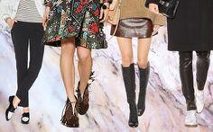 Herbsttrends Damenschuhe 2015: Fransen, Marmor, Schnürstiefel