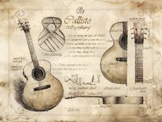Handmade Guitar by GrimDreamArt.deviantart.com on @DeviantArt