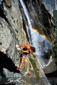 Sean Jones on Persephone Butterfly (5.11d) Ribbon Falls-- Scroll thru Pinterest, find your bf.. kinda weird :)