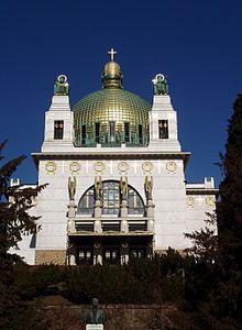 Kirche am Steinhof / Die Kirche am Steinhof (auch: Kirche zum heiligen Leopold) wurde von 1904 bis 1907 nach Entwürfen von Otto Wagner
