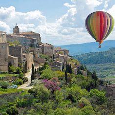 Provence holidays in Avignon, Luberon, Mont Ventoux, South of France Luberon Provence, Provence France, Air Ballon, Hot Air Balloon, Week End En Amoureux, Luxury Escapes, Beaux Villages, South Of France, Belle Photo