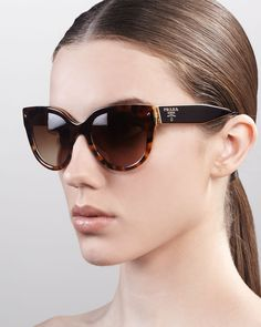 Heritage Cat-Eye Sunglasses by Prada at Neiman Marcus.