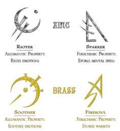 Allomantic metals.