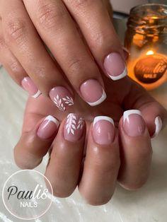 French Tip Nails, Nail Tips, Nail Colors, Make Up, Short Nail Manicure, Nail Manicure, Nail Decorations, Feet Nails, Nail Designs