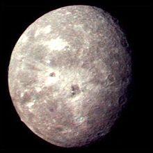 Uranus Moon Oberon - NASA Voyager 2 image