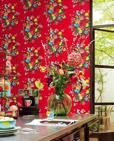 Pip Studio wallpaper collection by Eijffinger - Available at DDA Decor Interior Design, Interior Design Living Room, Room Interior, Pip Studio, Home Decor Bedroom, Colorful Decor, Kobe, Branding Design, Contemporary Art