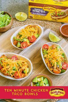 Turkey Recipes, Meat Recipes, Mexican Food Recipes, Chicken Recipes, Cooking Recipes, Healthy Recipes, Grilled Chicken Tacos, Taco Bowls, Healthy Cooking Recipes
