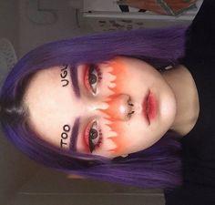 aesthetic aesthetic surgery job job before and after remodelling Edgy Makeup, Eye Makeup Art, Clown Makeup, Crazy Makeup, Makeup Tips, Beauty Makeup, Eye Art, Creative Makeup Looks, Unique Makeup