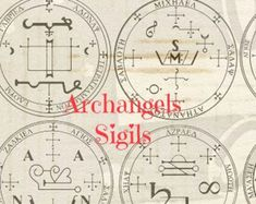 Archangel - 9 sigials or symbols Rubber Stamp  Set of 9 angels #archangels #jewlery #packaging #etsy