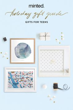 Minted Holiday Gift Guide for Teens. Gifts they'll love to spark their creativity and inspire their imagination.