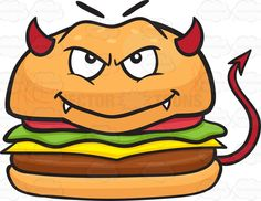 Devil Cheeseburger With Horns Fangs And Tail #arrow #arrowtail #beef #beefpatties #beefpatty #beefburger #boeuf #bugerbun #bun #buns #burger #burgerpatties #burgerpatty #cheese #cheeseburger #costume #devil #devilish #fangs #fastfood #grin #groundbeef #hamburger #hamburgerbun #horns #lettuce #meat #mischievous #naughty #naughtysmile #patties #patty #redhorns #sandwich #smile #tail #tomato #vector #clipart #stock