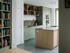 From Works creates kitchen that references Peak District landscape Plywood Kitchen, Wood Kitchen Island, Ikea Kitchen, Kitchen Flooring, Plywood House, Bathroom Cabinetry, Bathroom Renovations, Bathrooms, Kitchen Cabinets