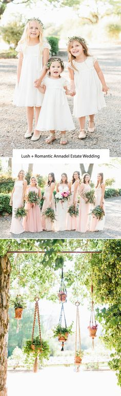 Lush + Romantic Annadel Estate Wedding - aren't these flower girls the cutest?!