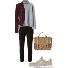 Street Style by claudiagir on Polyvore featuring moda, Balenciaga, Joseph, New Balance and Topshop