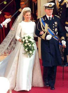 There's nothing more glamorous than a royal wedding—except for the royal wedding dress! Click through to see Us Weekly's favorite royal wedding dresses on Kate Middleton, Queen Letizia of Spain, Princess Madeleine of Sweden, and more! Royal Wedding Gowns, Royal Weddings, Bridal Gowns, Wedding Dresses, Prince Of Orange, Eugenie Wedding, Valentino Gowns, Valentino Couture, Princess Eugenie
