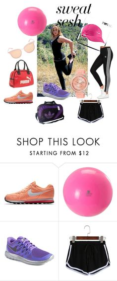 """""""super cool to exercise"""" by rose-mary-orihuela-abad on Polyvore featuring NIKE, adidas and adidas Originals"""