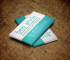 Blurry Circles Business Card Templates Free Business Cards - Construction business cards templates free