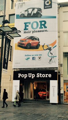 Pop-up with a banner - Branding and brand activation - Impact and Experience #BlowUPmedia #Popthisplace