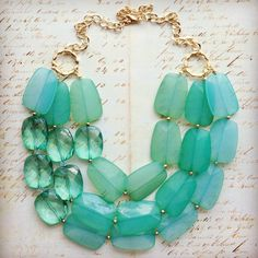 LOVE- Delicious Mint Green Necklace