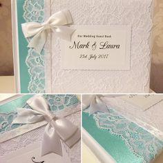 Mint green ribbon on tonight's #wedding #guestbook! Ahoydesigns.co.uk #wedding #brides #weddinginspiration #weddingday #guestbook #lace #ribbon #diy #vintage #classic #shabbychic # #bespoke #unique #individual #crafty #craft #weddingday #love #personalised #engaged #gettingmarried #newlyengaged
