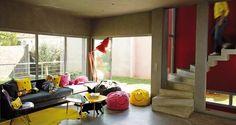 Pouf et coussin Smiley - Décoration salon : deco salon, notre sélection