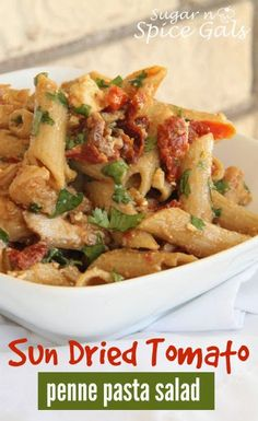 Sun Dried Tomato Penne Pasta Salad on MyRecipeMagic.com